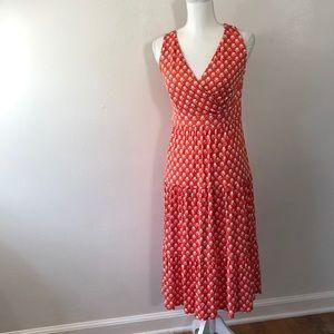 Boden Orange and White Dress - 6P